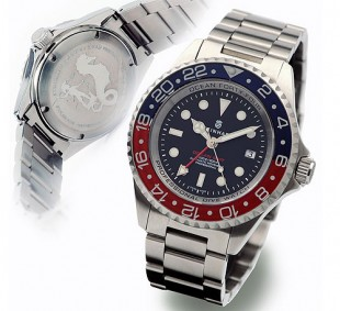 Steinhart Ocean Forty-Four GMT Blue Red